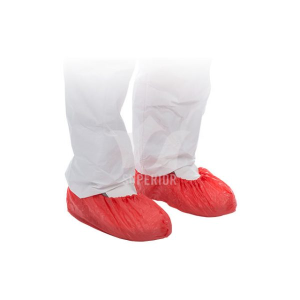 Polyethylene-Shoe-Covers-Red